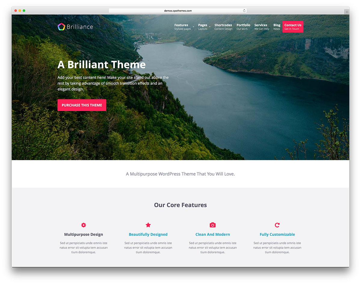 brilliance-minimal-landing-page-website-template